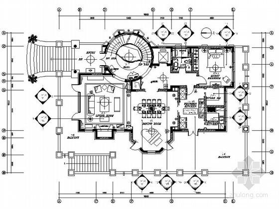 [北京]古典三层别墅室内装修图