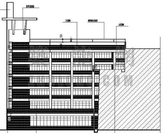 某带有屋顶运动场的综合楼建筑设计方案-2