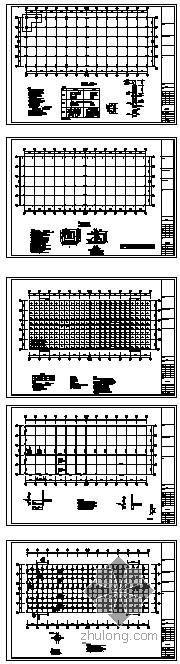 某4级抗震混凝土厂房框架结构设计图
