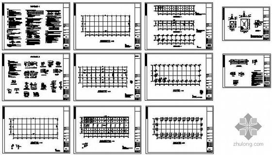 某铸造车间预应力钢混厂房结构图