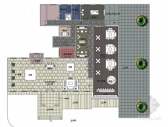 [河北]优雅现代风格销售中心室内装修设计方案