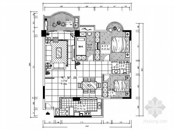 [毕业设计]现代简约三居室室内装修图(含手绘效果)