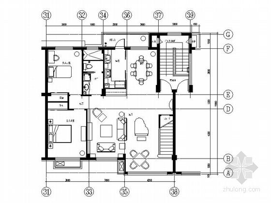 某欧式豪华双层别墅样板间装修图(含效果)