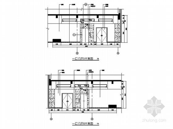 [江苏]独创哲学社会科学研究机构学院新校区图书馆装修施工图(含效果)门厅立面图