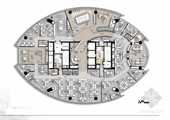 [上海]豪华高档办公楼装修设计方案含效果图