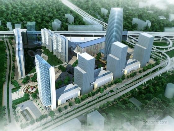[安徽]玻璃幕墙结构商业区规划及单体设计方案文本(含CAD,多媒体)