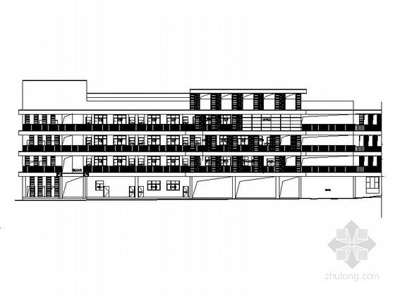 [湖南]现代风格小学建筑施工图(含学校所有楼)