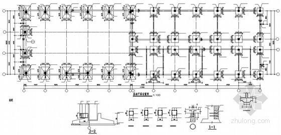 宁夏某框排架厂房结构设计图