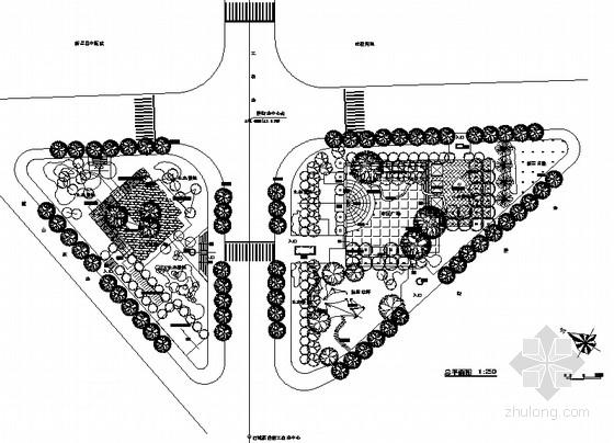 [浙江新昌]城市交通绿地景观全套施工图