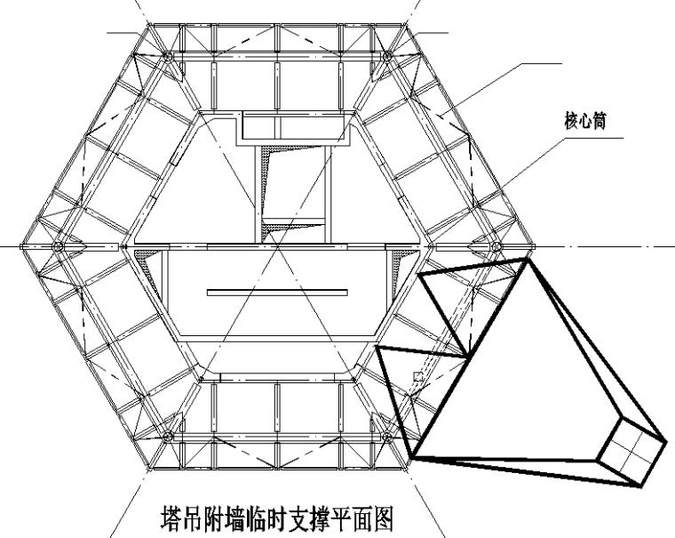 仿古宝塔塔吊附墙技术创新QC