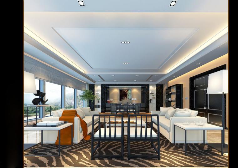 [山东]混搭--黄海城市花园七层办公平面装修施工图+效果图-7