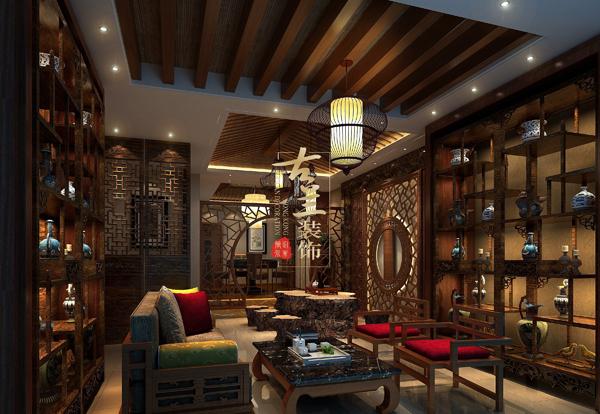 资阳茶楼装修设计公司-《紫荆茶楼》-古兰装饰