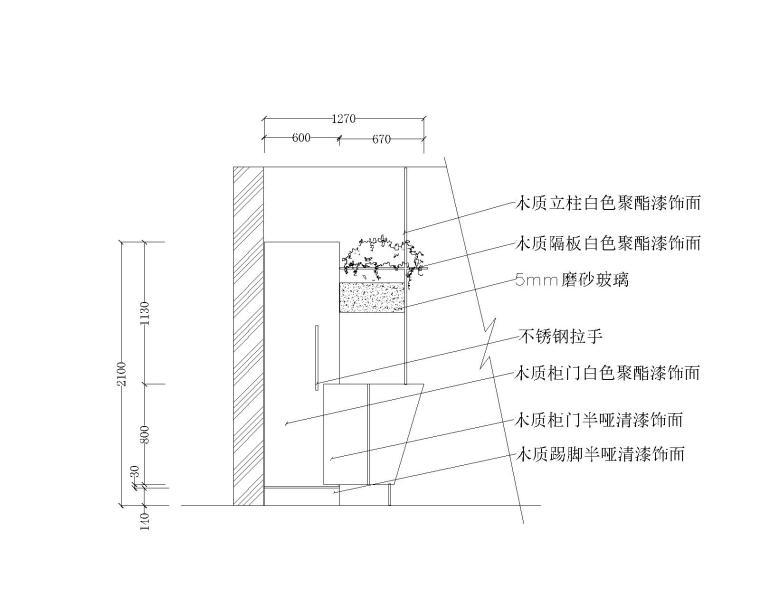 17套室内柜子设计节点图(玄关衣帽柜、鞋柜、中式展柜、红酒柜)
