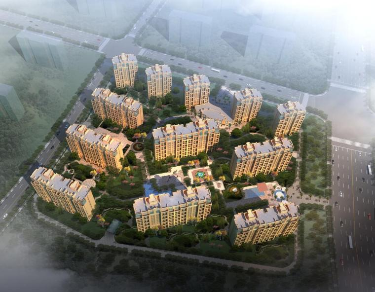 [浙江]杭州商品住宅区建筑方案文本(JPG+50页)