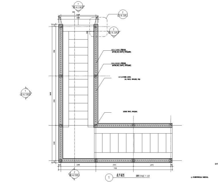 L形地下车库廊架详图设计——泛亚景观