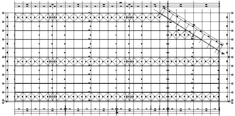 成都74X171mm门式刚架结构施工图(CAD,全套)_2