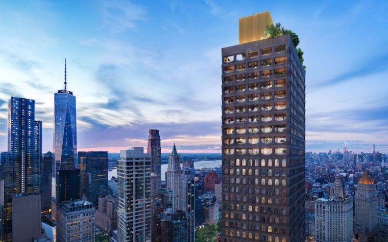 DavidAdjaye的第一座高层摩天大楼住宅建筑重新定义曼哈顿城的天