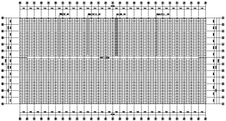 187×87m门式刚架厂房工程施工图(CAD,10张)