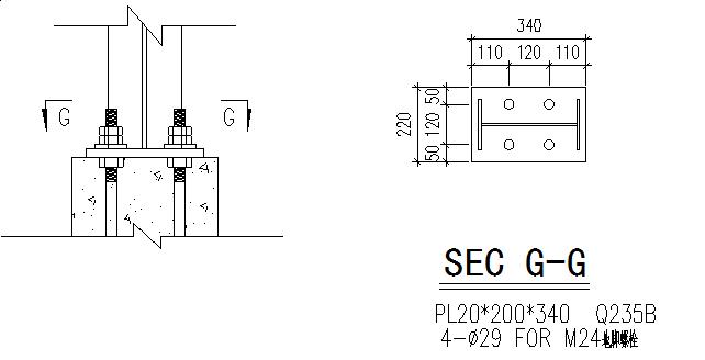 中阳石业门式刚架钢结构厂房(CAD,16张)_4