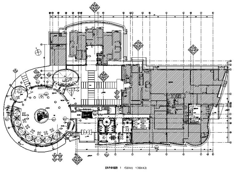 梁志天--大连海洋公园售楼处全套施工图纸