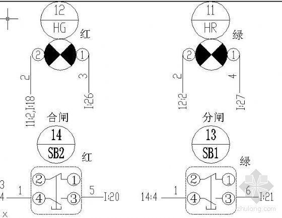 35kV内桥间隔断面图
