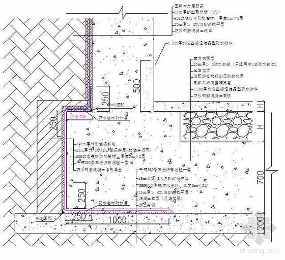 天津某项目地下室防水施工方案(SBS改性沥青防水卷材 水泥基渗透结晶型防水涂料)
