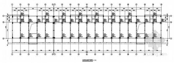 [广东]学生宿舍楼加固结构施工图(柱外包粘钢加固)