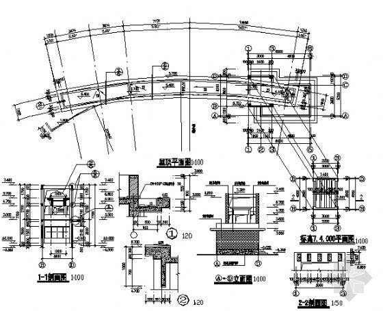 某大门建筑施工图-3