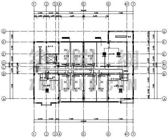 某八层办公楼VRV空调平面图