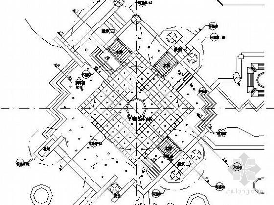 某喷泉广场景观设计施工图