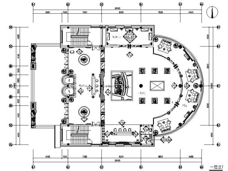 [福建]知名房产豪华会所售楼处室内施工图(含效果图、物料清单)