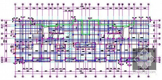 [浙江]2栋住宅楼(含地下室)建筑工程量计算及预算书(含施工图纸)-板配筋图