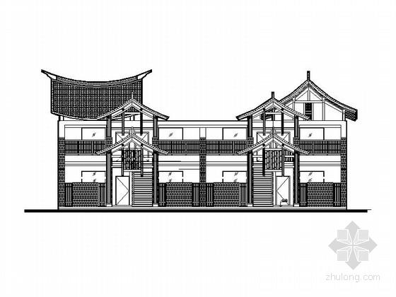 [四川]知名小镇度假酒店建筑设计施工图(含效果图 知名设计院)