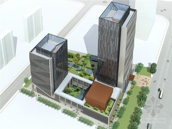 [山东]现代风格绿色科研楼及公寓建筑设计方案文本