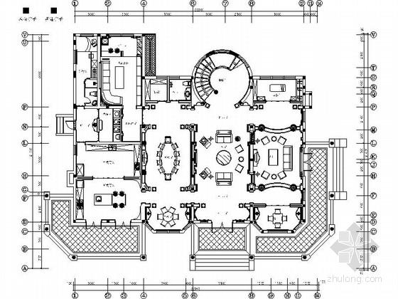 [江苏]高档庄园精品超豪华欧式三层豪宅装修施工图(含效果)