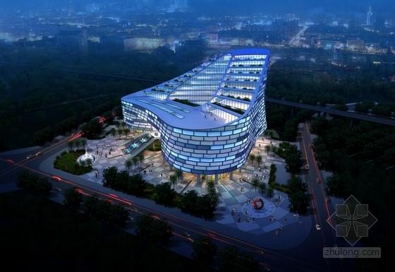 [广东]高层地标性办公中心建筑设计方案文本