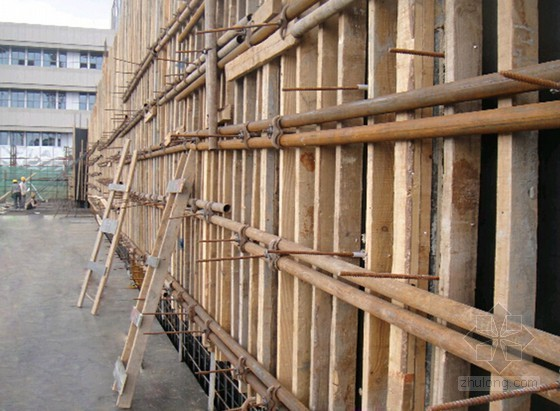 框架结构地下室工程剪力墙模板施工工法