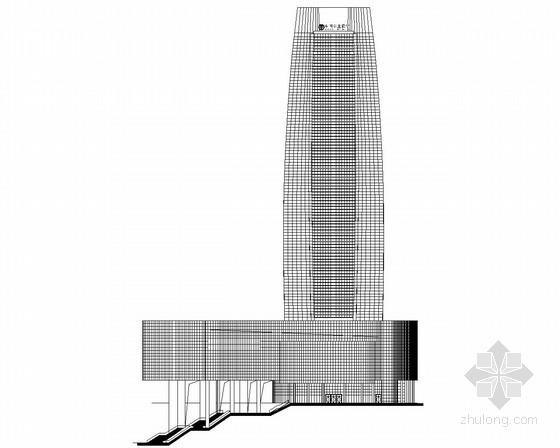 [重庆]某148米超高层企业办公楼建筑施工图(含效果图)