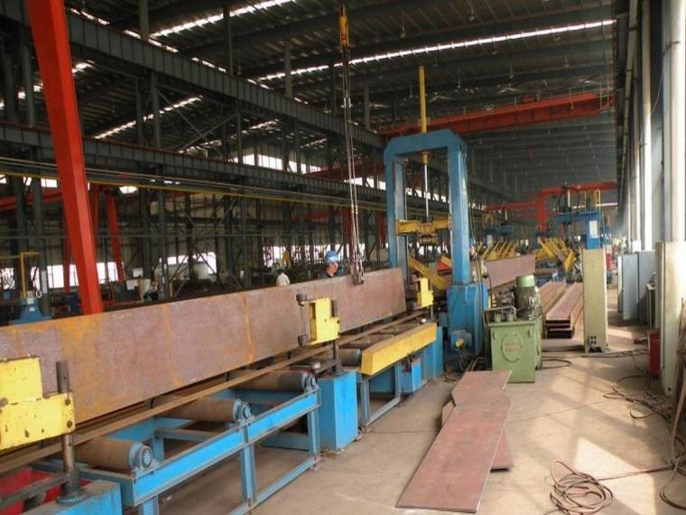 工厂H型钢、T型组立实景