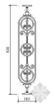 铁艺栏杆详图32
