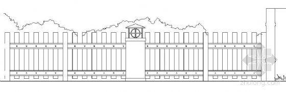 防腐木板围墙节点详图