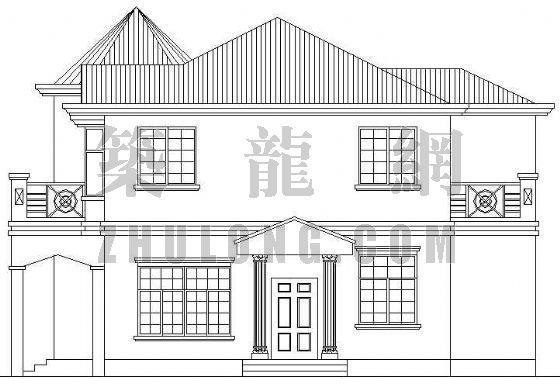 某欧式小别墅建筑设计方案