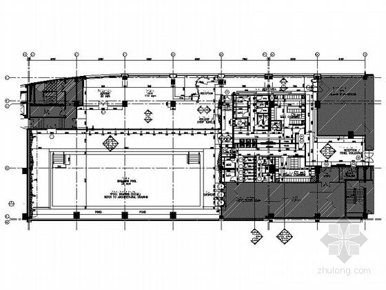 [上海]5星级豪华高档酒店休闲区CAD施工图