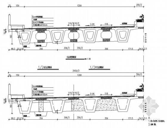 迁安市某30m小箱梁跨河大桥设计图