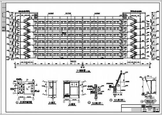 某中学学生宿舍建筑结构图及PKPM计算模型