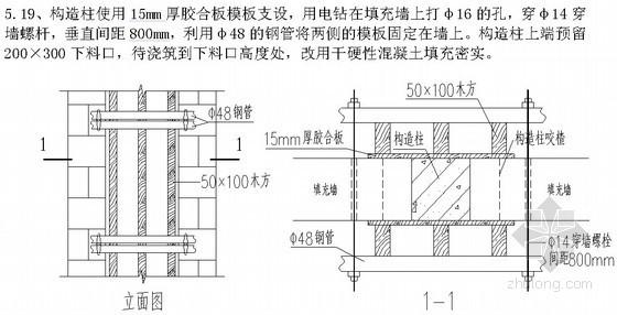 [北京]综合办公楼二次结构施工方案(节点详图)