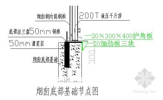 超高大直径烟囱液压顶升倒装施工工法