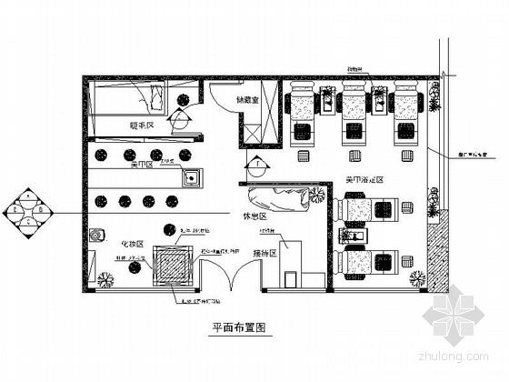 [四川]某连锁美甲店室内装修施工图(含效果)