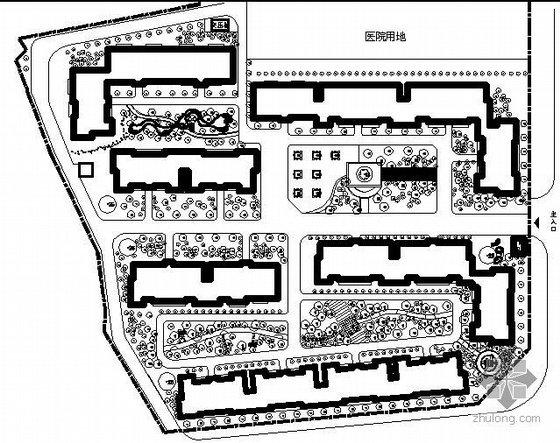 [四川]医院景观设计施工图套图