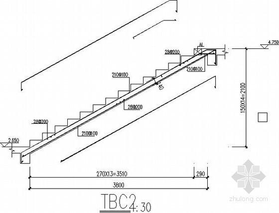 框架办公楼楼梯节点构造详图